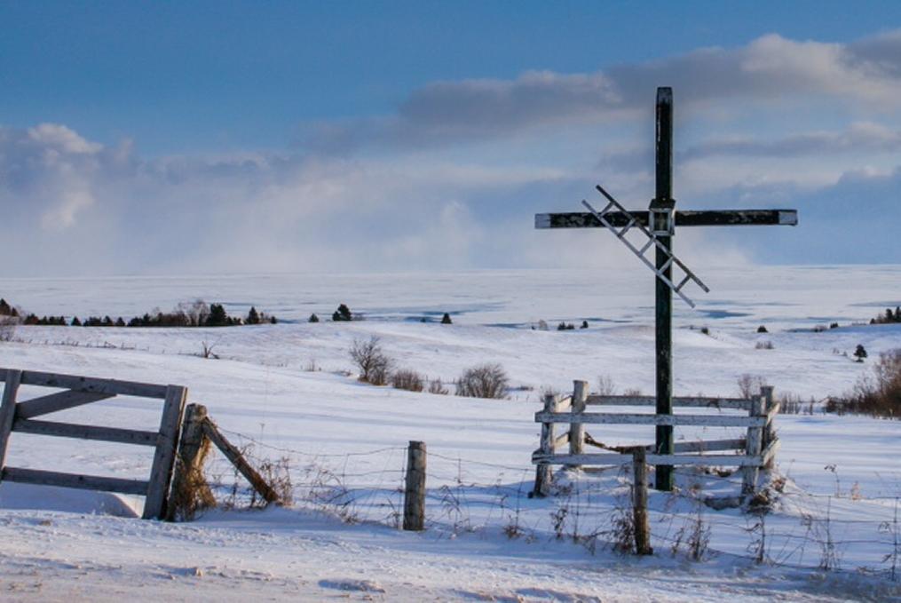 Une croix de chemin dans Charlevoix  de Louise  Auclair