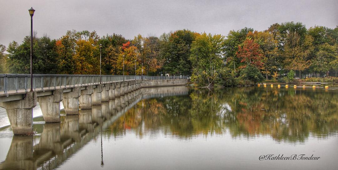 L'automne à l'Île du Moulin à Terrebonne de Kathleen Tondeur