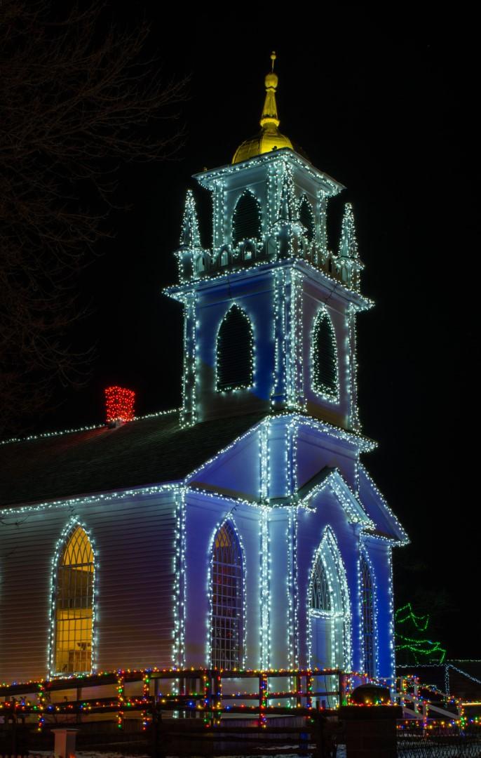 Église de nuit de Claude Gagnon