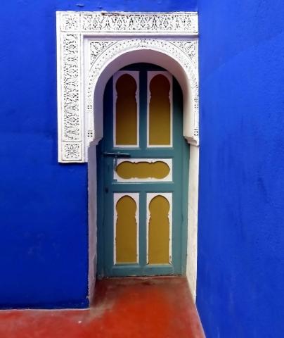 La porte du Jardin de Majorelle  de Kathleen Tondeur